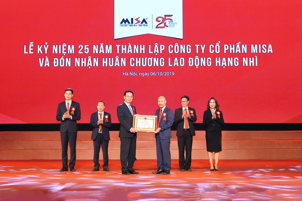 Honored to receive the Second Labor Medal awarded by the Vietnamese President